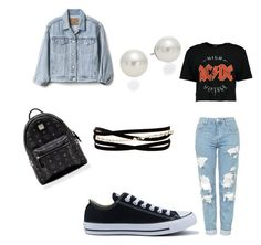 """MCM"" by ranbe on Polyvore featuring Mode, Topshop, Gap, Converse, Kenneth Jay Lane, AK Anne Klein und MCM"