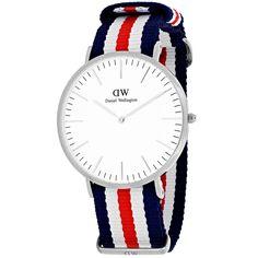 Daniel Wellington Men's 0202DW 'Canterbury' Blue, and Red Watch
