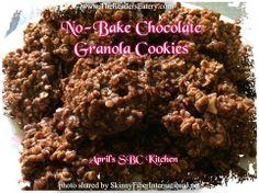 No-Bake Chocolate Granola Cookies Granola Cookies, Chocolate Granola, Kitchen Photos, No Bake Cookies, Sweet Treats, Deserts, Beef, Baking, Recipes