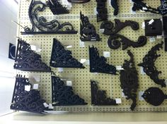 Corner brackets for $7 ish each at hobby lobby. Would be nice for bathroom shelving.