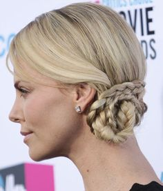 Total Hairspiration: The Best & Worst Celebrity Braids Good: Charlize Theron – The Frisky