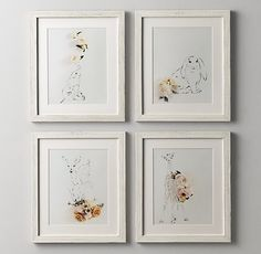RH Baby & Child's Botanical Photography Elephant:Our original artwork was created just for us by photographing stylized floral arrangements atop hand-sketched portraits of wild animals, creating a visually rich blend of flora and fauna.