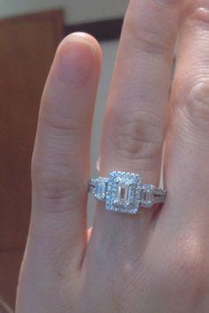 Vera wang LOVE collection engagement ring emerald cut...llooooove angles.