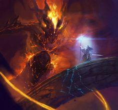 Gandalf and the Balrog in Moria