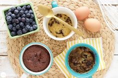 If you have a mug and a microwave, you're just minutes away from 3 delicious desserts - a chocolate chip cookie, a Nutella cake, and a blueberry muffin!