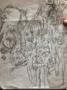 I'm a county jailer in a maximum security psych ward. An inmate with severe paranoid schizophrenia drew this. - Imgur