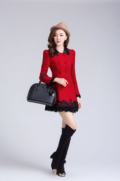 Cashmere Coat Lace Embroidery YRB0004 choice of 5 colors