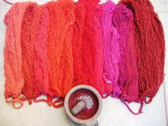 Travel Oaxaca's Natural Dye Textiles + Weaving Trail: One-Day Study Tour Shibori, Natural Dye Fabric, Natural Dyeing, Red Pigment, Pigment Coloring, How To Dye Fabric, Cowgirl Boots, At Least, Fiber