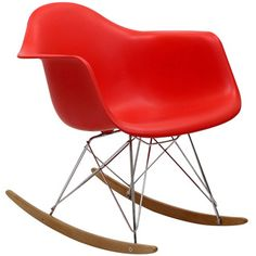 @Overstock - Not Grandma's rocking chair, this mid-century retro modern rocker, has the avant garde style of today that adds pizzazz to your room. http://www.overstock.com/Home-Garden/Red-Molded-Plastic-Armchair-Rocker-in-Red/6673025/product.html?CID=214117 $121.49