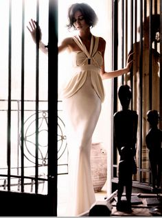 A Sophisticated Lady! Beautiful Gowns, Beautiful Outfits, Beautiful Moments, Cool Girl Style, White Gowns, White Dress, Nude Dress, Glamour, Pretty In Pink