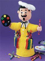 Little Artist Crayon Keeper..........free