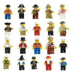 VDproTM Lot of 20 New Minifigures Men People Minifigs