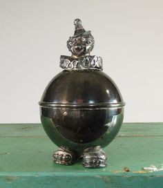 Clown Piggy Bank Lunt Silver Plated Old by 13thStreetEmporium, $15.00