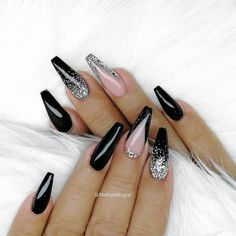 19 - current trends of very beautiful nail design 19 - Tried this Pin Add a photo to show how it went - 1 19 - current trends of very beautiful nail design 2020 - 2 festival nails spring n. Black Nail Designs, Beautiful Nail Designs, Acrylic Nail Designs, Dope Nails, Bling Nails, Acrylic Nails Coffin Glitter, Coffin Nails, Purple Nail, White Nails