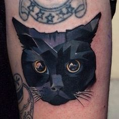 cat geometric tattoo