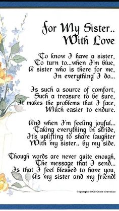 16 Ideas Birthday Message For Sister Funny Card Sentiments Birthday Message For Friend, Message For Sister, Birthday Wishes For Sister, Love My Sister, Birthday Wishes Quotes, Birthday Verses, Little Sister Poems, Poems For My Sister, Sister Prayer