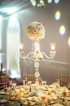 Beautiful romantic wedding done by Nevill's Flowers