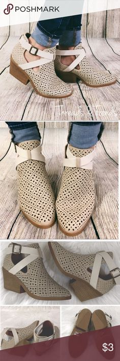 Sold Exchanged @cocoshops81 Monochromatic perforated booties size 8.5. Threads & Trends Shoes Ankle Boots & Booties