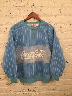 Vintage 1980s Coca-Cola Striped Crewneck by HappyPigVintage
