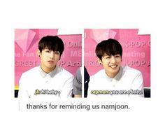 baby, cute, bangtan boys, rap monster, jungkook, jeon jungkook, kpop memes, bts…