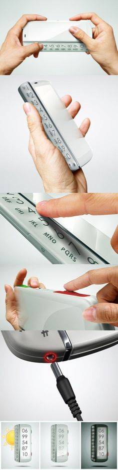 Conceptual design of cell phone for the old