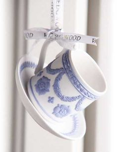 crystal teacup and saucer | Wedgwood 2014 Iconic Teacup and Saucer Ornament