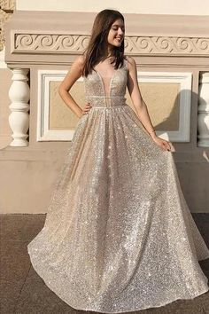 Buy Modest Sparkly A Line Champagne V Neck Long Prom Dresses, Evening Dresses online.Shop short long ombre prom, homecoming, bridesmaid evening dresses at Couture Candy Cocktail party dresses, formal ball gowns in ombre colors. Formal Evening Dresses, Evening Gowns, Prom Dresses, Dress Formal, Dresses Uk, Evening Party, Dresser, Dress Backs, Dream Dress