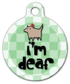 Dog Tag Art Custom Pet ID Tag for Dogs  Im Deaf  Large  125 inch ** Click image to review more details.