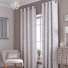 Canterbury Silver Eyelet Curtains In 2019 Home Decor Curtains intended for measurements 960 X 960 Bedroom Curtains In Silver - Bedroom-curtains are Bedroom Drapes, Home Decor Bedroom, Modern Bedroom, Bedroom Ideas, Dream Bedroom, Master Bedroom, Bedrooms, Yellow And Grey Curtains, Silver Curtains