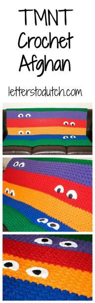 TMNT Crochet Afghan! #tmnt #teenage #mutant #ninja #turtle #crochet #afghan…