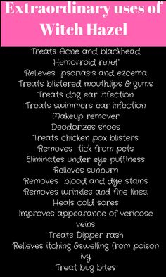 32 Extraordinary witch hazel Uses and Benefits. 32 Extraordinary witch hazel Uses and Benefits. Witch Hazel Face, Witch Hazel Uses, Benefits Of Witch Hazel, Skin Care Regimen, Skin Care Tips, Skin Tips, Anti Aging Creme, Under Eye Puffiness, Natural Lifestyle