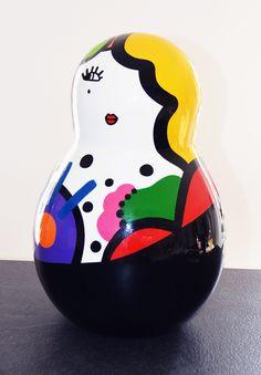 Virginia Benedicto - Paqui - Acrylique sur résine, vernis - hauteur 45cm - 2014 #virginiabenedicto #sculpture #artcontemporain #galerieduret