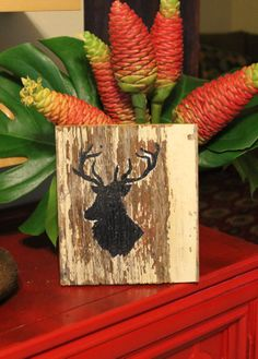 Rustic Deer Sign on 100 year old barnwood One of a by AWiredBird, $12.95
