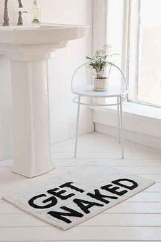 get naked funny bath mat