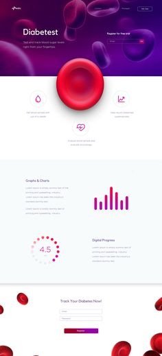 Diabetest Landing Page on Behance