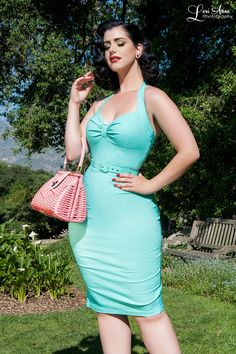 Pinup Couture- Dames Dress in Mint | Pinup Girl Clothing