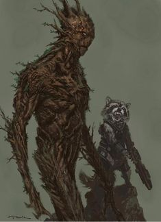 """Marvel Studios conceptual artist, Andy Park (""""Captain America: The Winter Soldier""""), has released three more pieces of concept art that he created for James Gunn's Guardians of the Galaxy. Come see designs for Groot, Rocket, Nova Corps and Drax. Marvel Art, Marvel Dc Comics, Marvel Heroes, Comics Universe, Marvel Cinematic Universe, Galaxy Comics, Gi Joe, Hulk, Andy Park"""