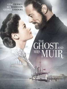 Like its TV-sitcom counterpart of the the original film version of The Ghost and Mrs. Muir was based on the novel by R. Gene Tierney plays t Gene Tierney, George Harrison, Movies Showing, Movies And Tv Shows, Love Movie, Movie Tv, Movies Wallpaper, Movies Quotes, Classic Hollywood
