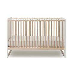 Oeuf Robin Crib, White/Birch