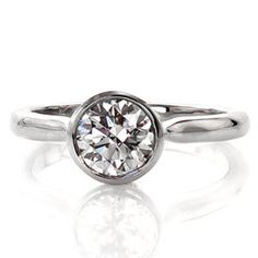 Delicado - Knox Jewelers - Minneapolis Minnesota - Contemporary Engagement Rings - Full Bezel, Solitaire