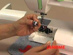 Maquina de coser Janome 1008 - YouTube