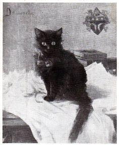 Desmonette ou Démonettte chatte noir deBarbey d'Aurevilly