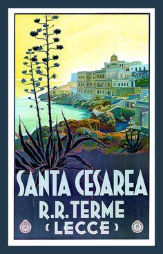 Leche Lecce Italy Vintage Travel Poster Refrigerator by LABELSTONE, $4.75, via elizabetta marseglia