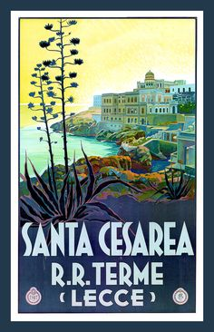 Leche Lecce Italy Vintage Travel Poster Refrigerator by LABELSTONE, $4.75