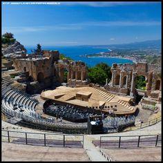 Green theater of Taormina, Province of Messina, Sicily region Italy #messsina #sicilia #sicily