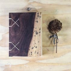 Extremely beautiful, exotic hardwood journal, handbound. Coptic binding. Great use of natural material.