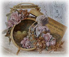 Tattered Treasures: Altered Clock: A Secret Garden
