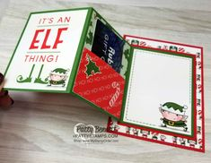 DIY Gift Card Holder Idea featuring Stampin' UP! - DIY Gift Card Holder Idea featuring Stampin' UP! Santa's Workshop Memories & More card pack, by - Christmas Gift Card Holders, Gift Card Boxes, Xmas Cards, Gift Tags, Gift Cards Money, Free Gift Cards, Gift Card Cards, 3d Cards, Fancy Fold Cards