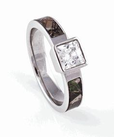 Square Diamond Realtree AP Camo Ring