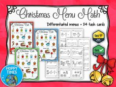 Christmas Menu Maths